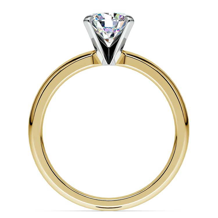 Comfort-Fit Solitaire Engagement Ring in Yellow Gold (2.5mm)  | 02