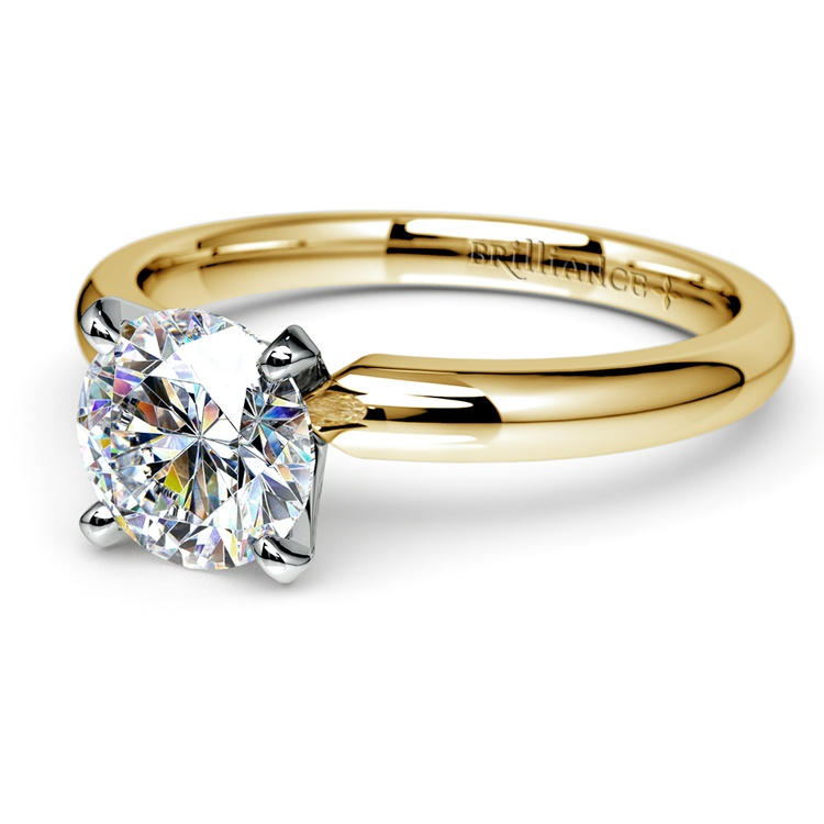 Comfort-Fit Solitaire Engagement Ring in Yellow Gold (2.5mm)  | 04