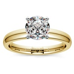 Comfort-Fit Solitaire Engagement Ring in Yellow Gold (3mm)  | Thumbnail 01