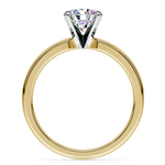 Comfort-Fit Solitaire Engagement Ring in Yellow Gold (3mm)  | Thumbnail 02