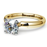 Comfort-Fit Solitaire Engagement Ring in Yellow Gold (3mm)  | Thumbnail 04