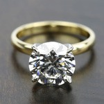 Comfort-Fit Solitaire Engagement Ring in Yellow Gold (3mm)  | Thumbnail 05