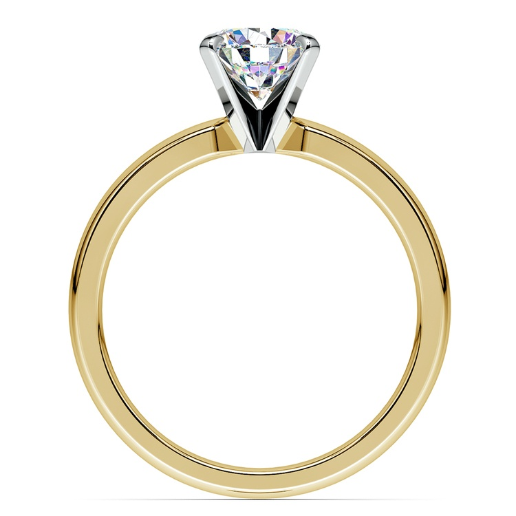 Comfort-Fit Solitaire Engagement Ring in Yellow Gold (3mm)  | 02