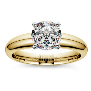 Comfort-Fit Solitaire Engagement Ring in Yellow Gold (4mm)