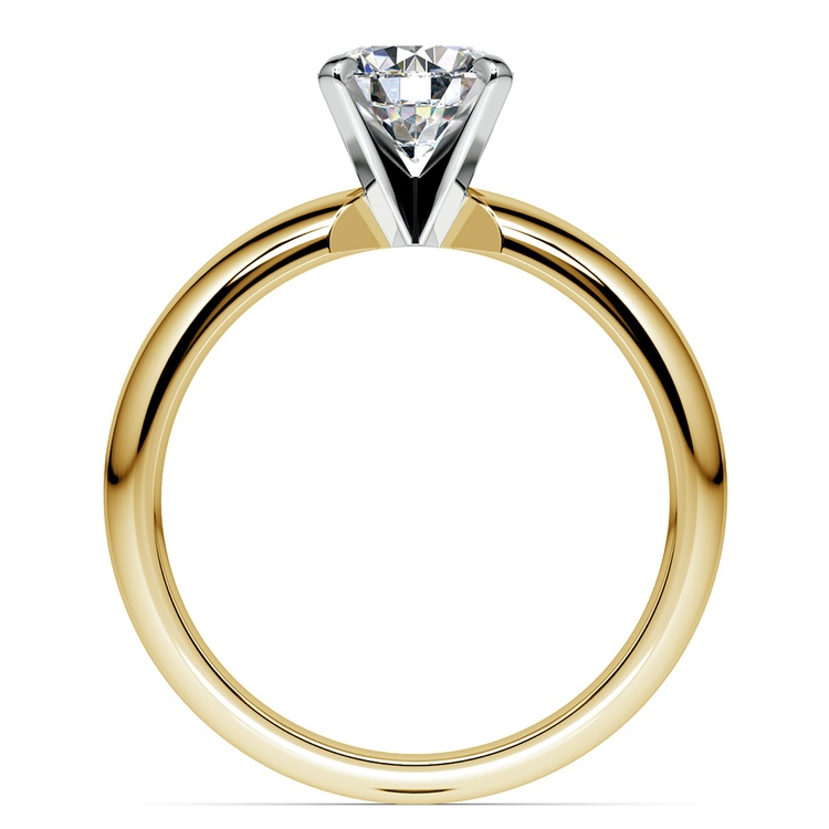 Comfort-Fit Solitaire Engagement Ring in Yellow Gold (4mm)  | 02