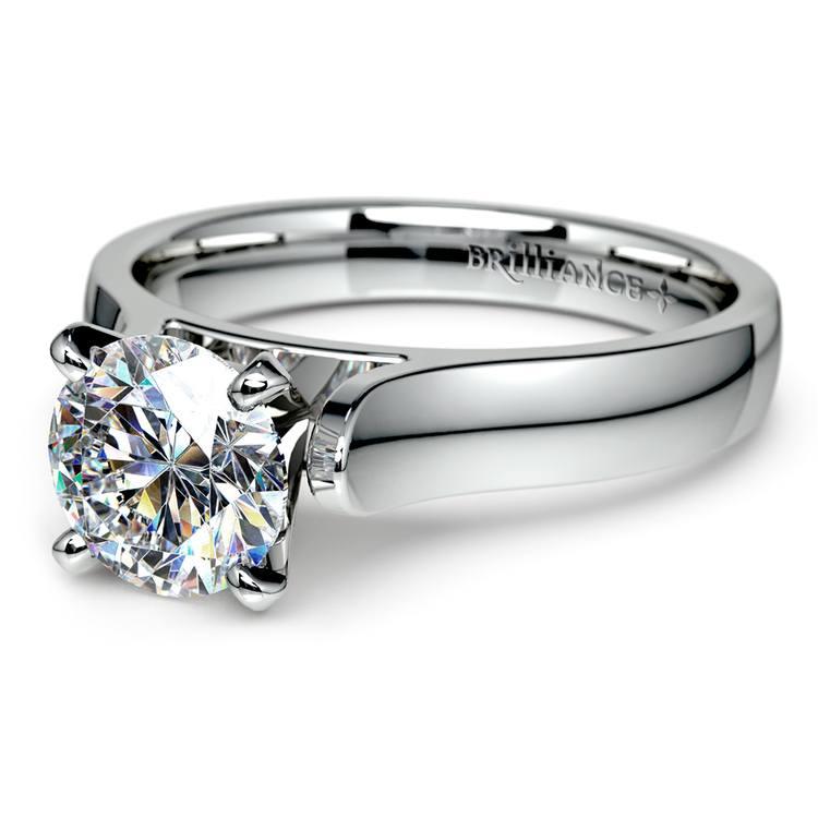 Contour Solitaire Engagement Ring in Platinum | 04