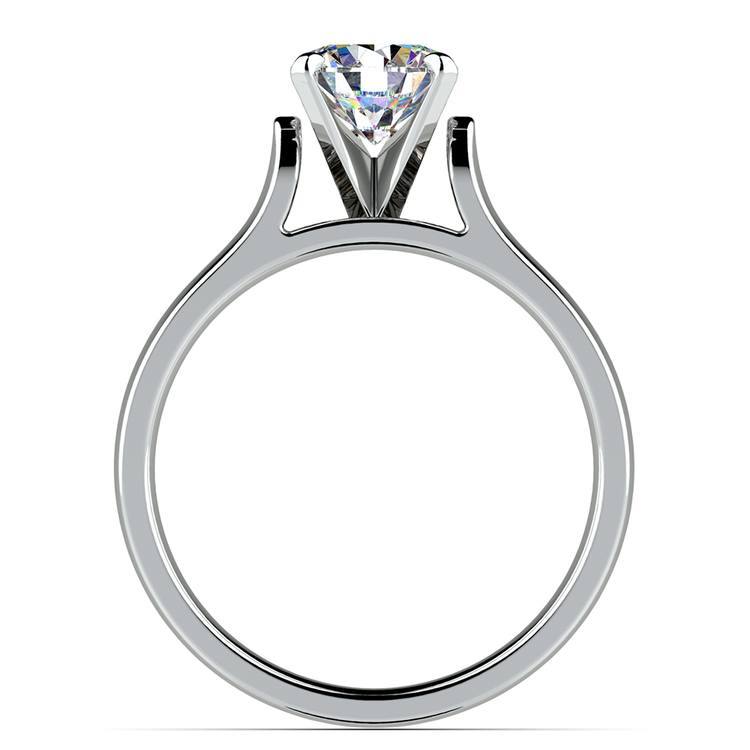 Contour Solitaire Engagement Ring in White Gold | 02