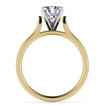 Contour Solitaire Engagement Ring in Yellow Gold | Thumbnail 02