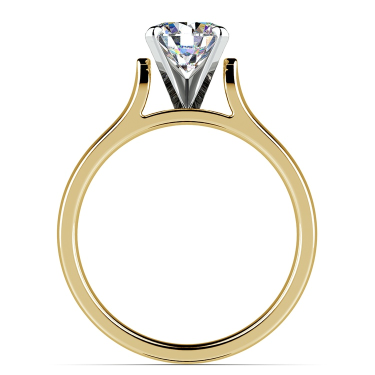 Contour Solitaire Engagement Ring in Yellow Gold | 02