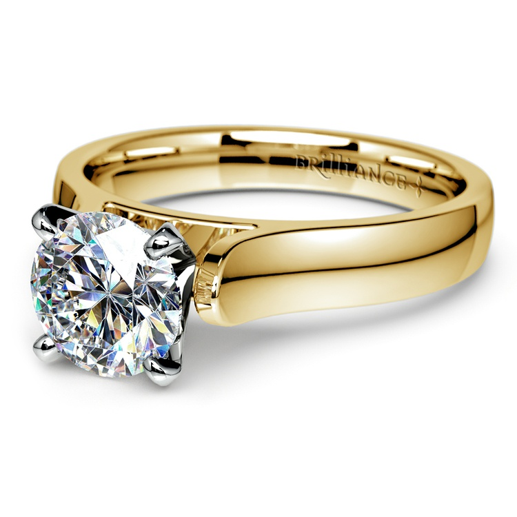 Contour Solitaire Engagement Ring in Yellow Gold | 04