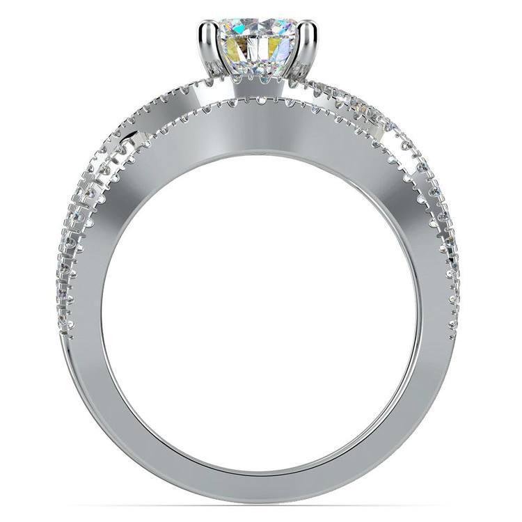 Cross Split Shank Bridal Set in Platinum   02