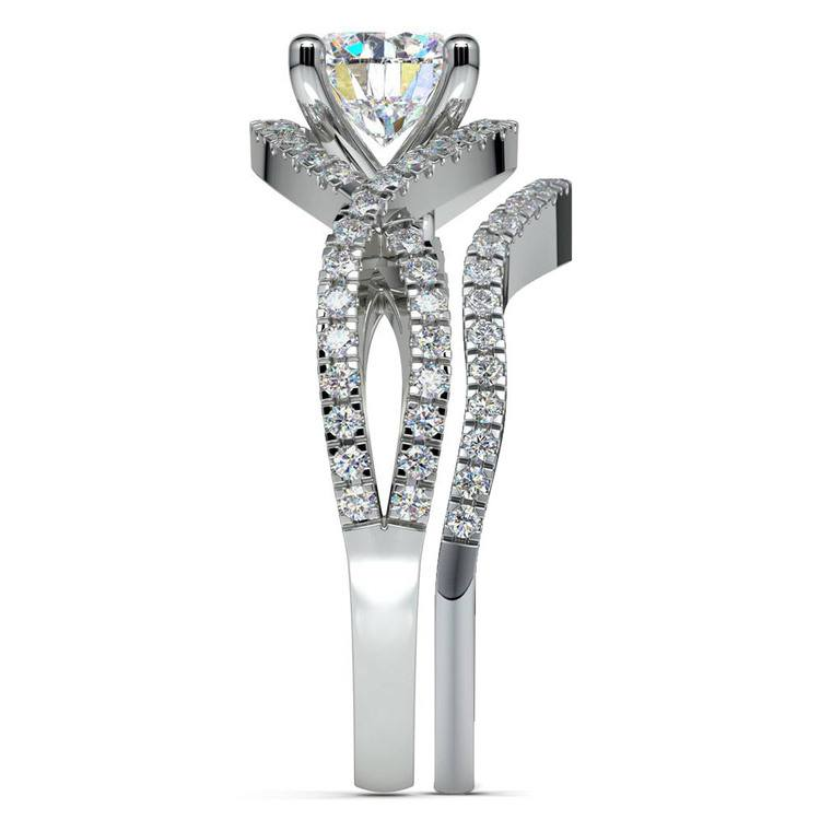 Cross Split Shank Bridal Set in Platinum   03