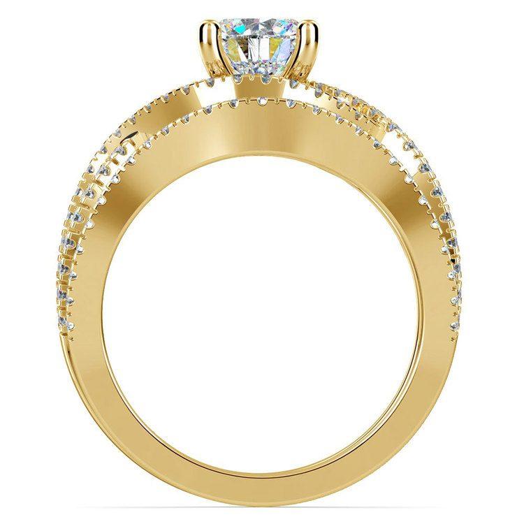 Cross Split Shank Bridal Set in Yellow Gold   02