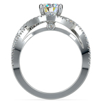 Cross Split Shank Diamond Engagement Ring in Platinum | Thumbnail 02