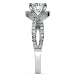 Cross Split Shank Diamond Engagement Ring in Platinum | Thumbnail 03