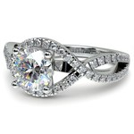 Cross Split Shank Diamond Engagement Ring in Platinum | Thumbnail 04
