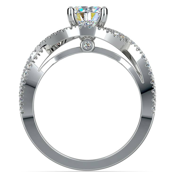 Cross Split Shank Diamond Engagement Ring in Platinum | 02