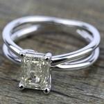 Cross Split Shank Solitaire Engagement Ring in Platinum   Thumbnail 05