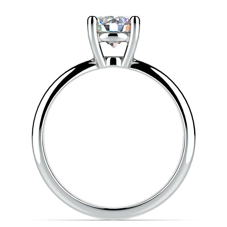 Cross Split Shank Solitaire Engagement Ring in Platinum   02