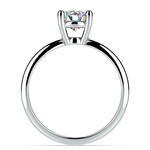 Cross Split Shank Solitaire Engagement Ring in Palladium | Thumbnail 02