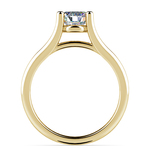 Curved Split Shank Solitaire Engagement Ring in Yellow Gold | Thumbnail 02