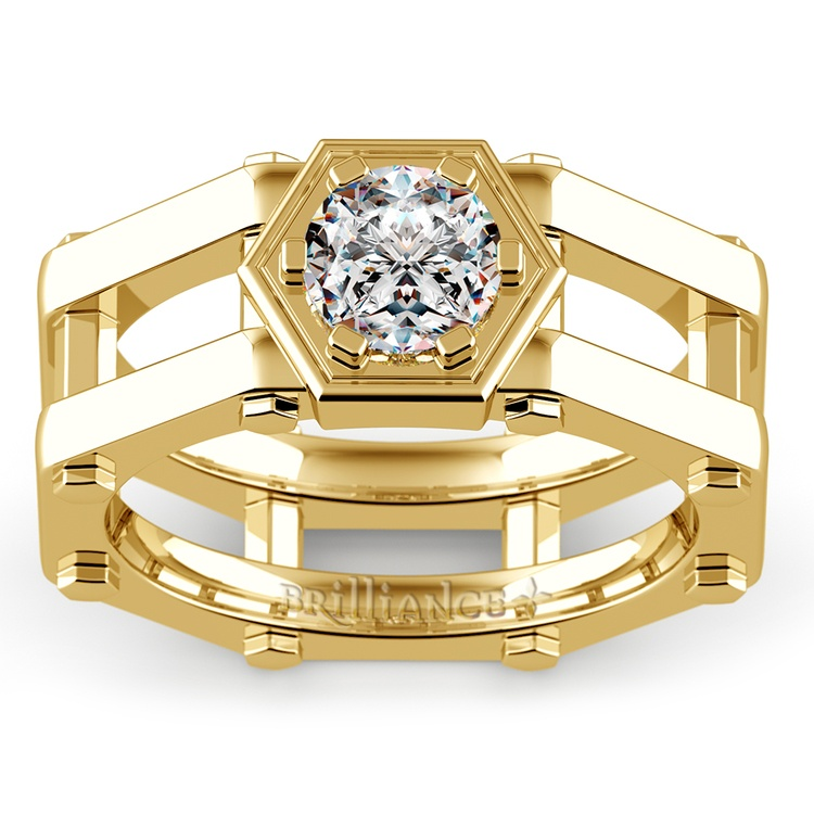 Daedalus Solitaire Mangagement™ Ring in Yellow Gold (1 ctw) | 02