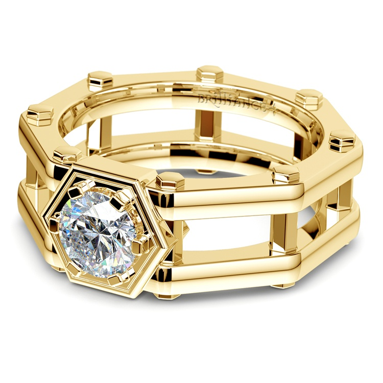 Daedalus Solitaire Mangagement™ Ring in Yellow Gold (1 ctw) | 01