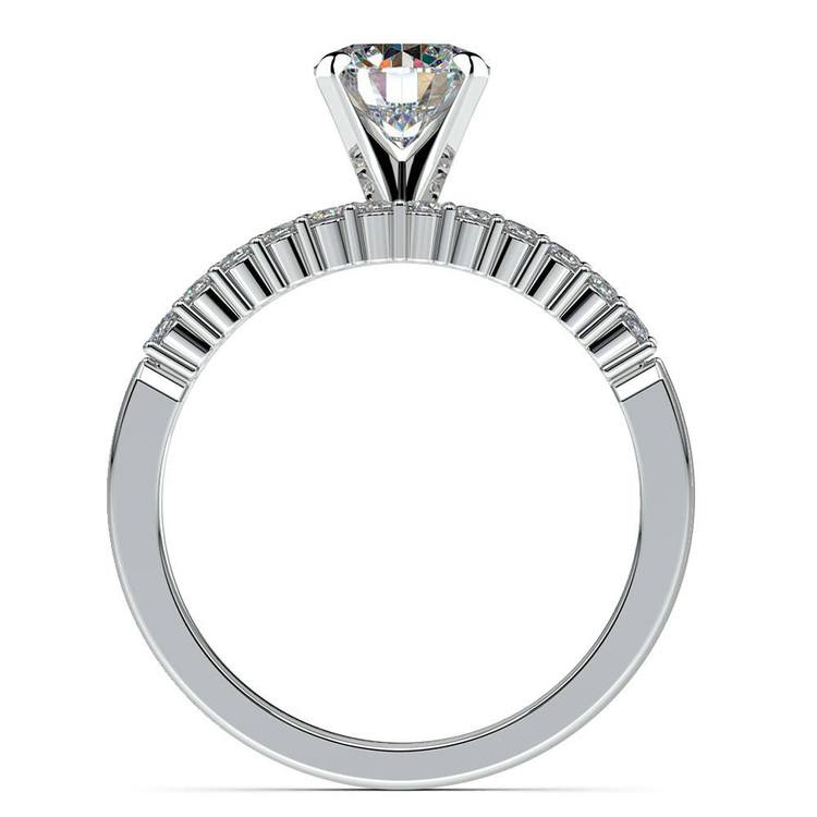 Delicate Shared-Prong Diamond Bridal Set in White Gold | 02