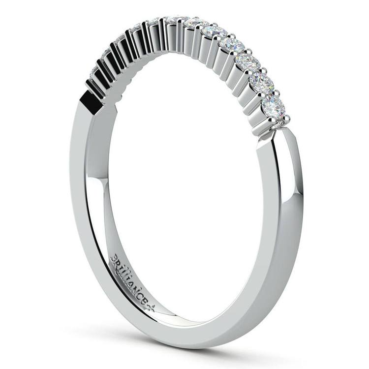 Delicate Shared-Prong Diamond Bridal Set in White Gold | 05