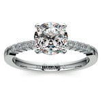 Delicate Shared-Prong Diamond Engagement Ring in Platinum | Thumbnail 01