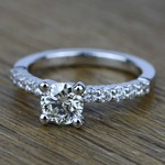 Delicate Shared-Prong Diamond Engagement Ring in White Gold | Thumbnail 05