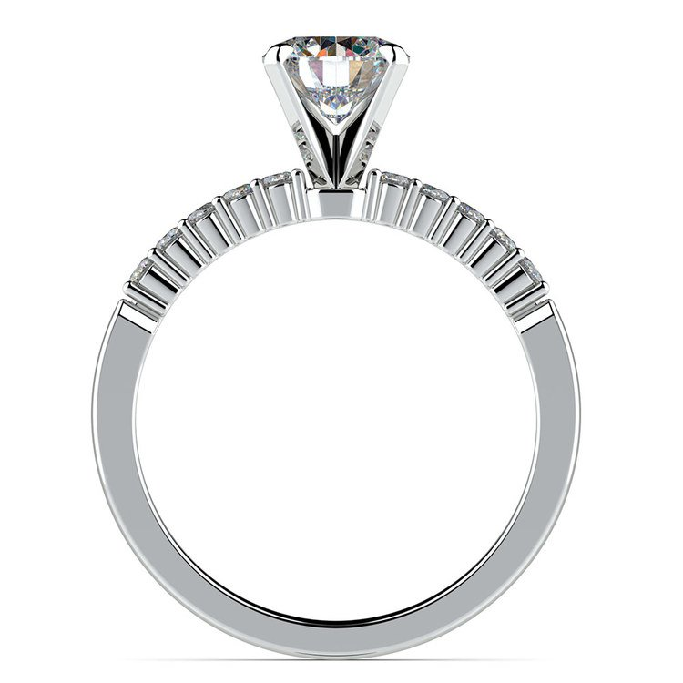 Delicate Shared-Prong Diamond Engagement Ring in White Gold | 02