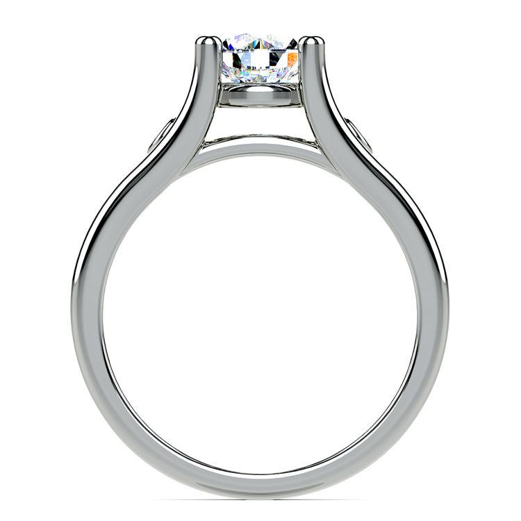 Diamond Accent Solitaire Engagement Ring in Palladium | 02