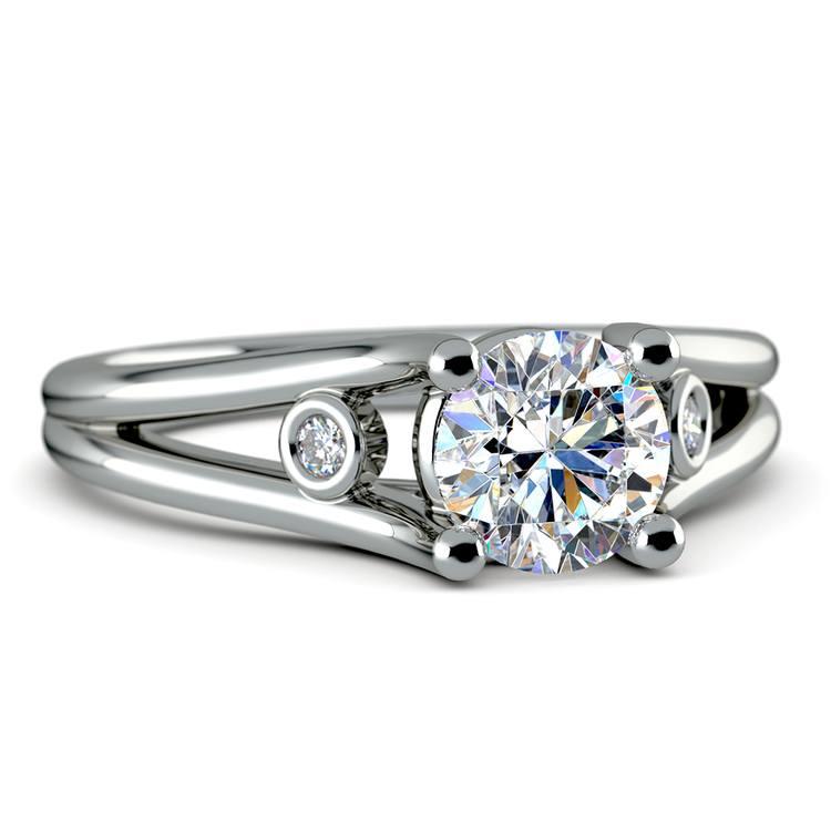 Diamond Accent Solitaire Engagement Ring in Palladium | 04