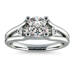 Diamond Accent Solitaire Engagement Ring in Platinum | Thumbnail 01