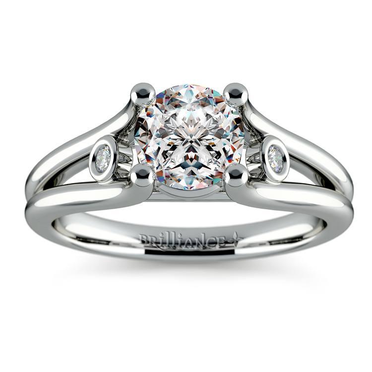 Diamond Accent Solitaire Engagement Ring in Platinum | 01