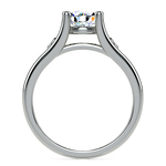 Diamond Accent Solitaire Engagement Ring in White Gold | Thumbnail 02