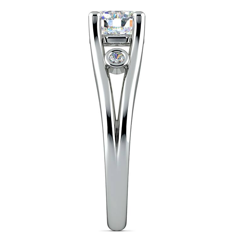 Diamond Accent Solitaire Engagement Ring in White Gold | 03