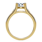 Diamond Accent Solitaire Engagement Ring in Yellow Gold | Thumbnail 02