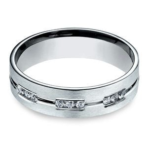 Diamond Eternity Men's Engagement Ring In Palladium