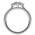 Diamond Halo Bridal Set In Platinum   Thumbnail 02