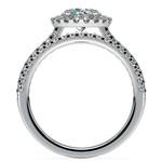 Diamond Halo Bridal Set In White Gold | Thumbnail 02