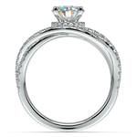 Double Cross Split Shank Diamond Engagement Ring in Platinum | Thumbnail 02