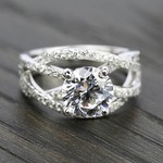 Double Cross Split Shank Diamond Engagement Ring in Platinum | Thumbnail 05