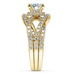 Double Cross Split Shank Diamond Engagement Ring in Yellow Gold | Thumbnail 03