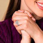 Double Halo Diamond Bridal Set in White Gold | Thumbnail 07
