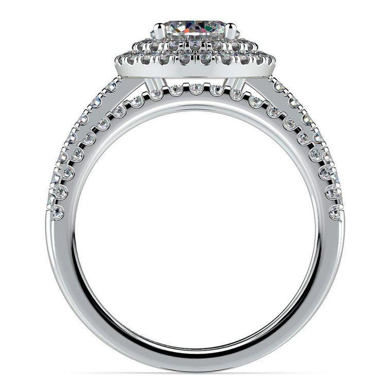 Double Halo Diamond Bridal Set in White Gold | 02