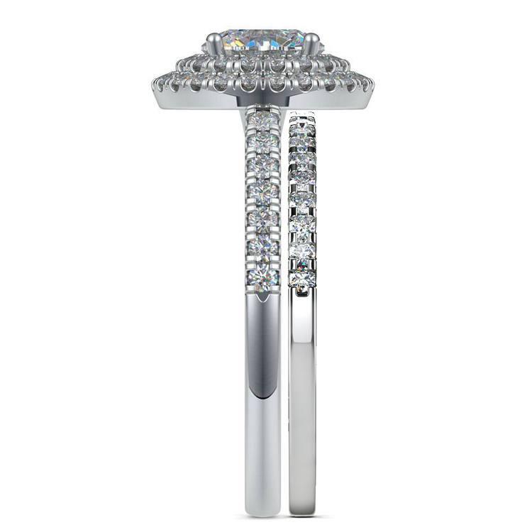 Double Halo Diamond Bridal Set in White Gold | 03