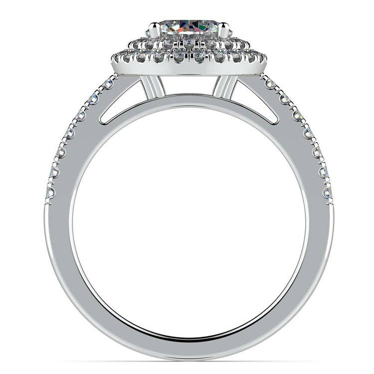 Double Halo Diamond Engagement Ring in White Gold | 02