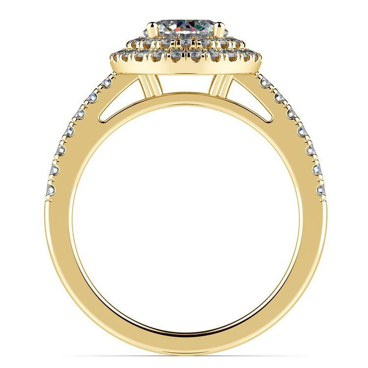 Double Halo Diamond Engagement Ring in Yellow Gold | 02